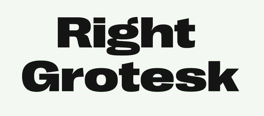 right grotesk